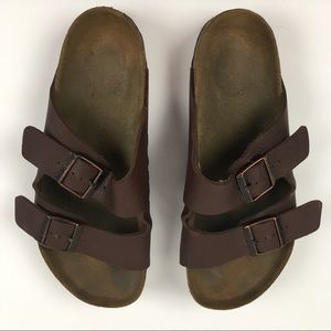 Birkenstock Arizona 2 Strap Brown Vegan Sandals 42